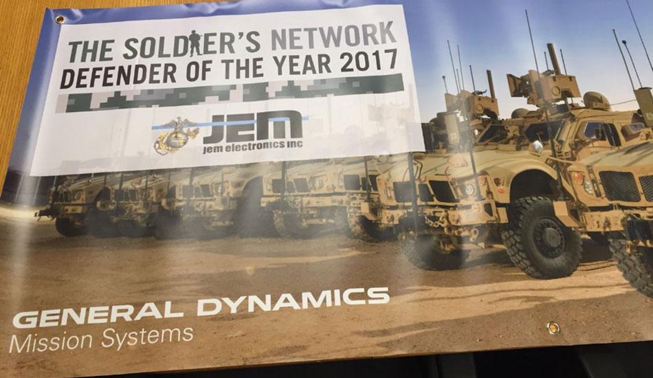 Soldiers Network Defender Award JEM Electronics
